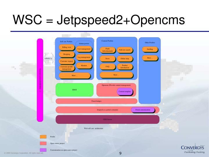WSC = Jetpspeed2+Opencms