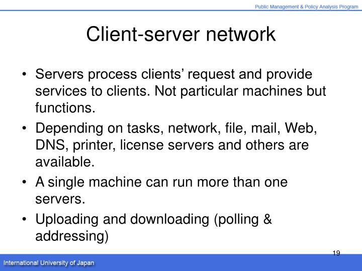 Client-server network