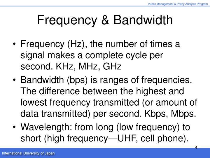 Frequency & Bandwidth