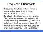 frequency bandwidth