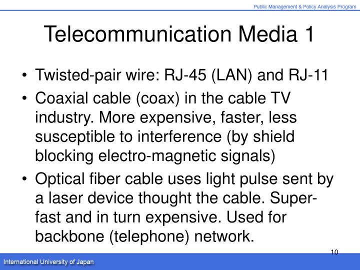 Telecommunication Media 1