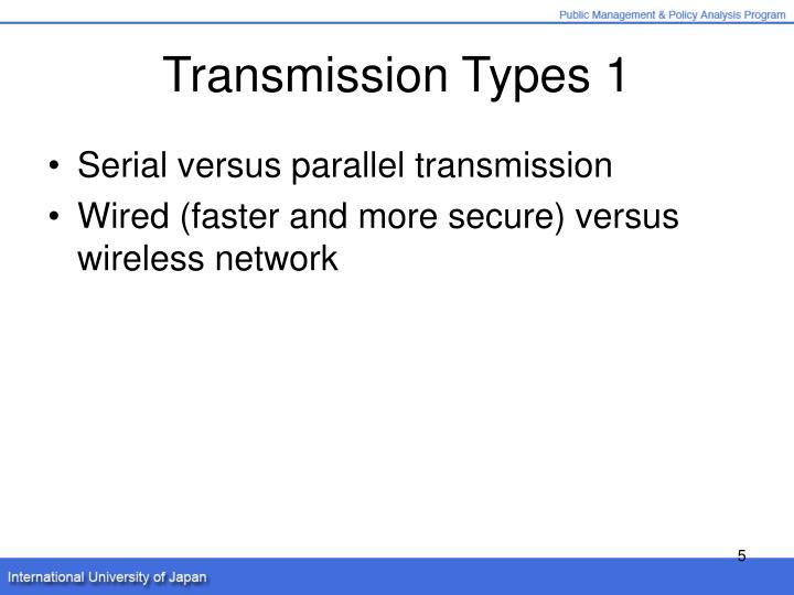 Transmission Types 1