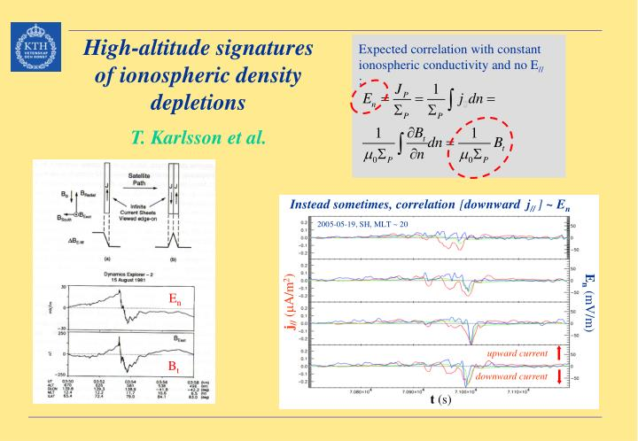 Expected correlation with constant ionospheric conductivity and no E