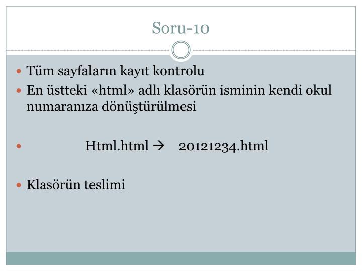 Soru-10