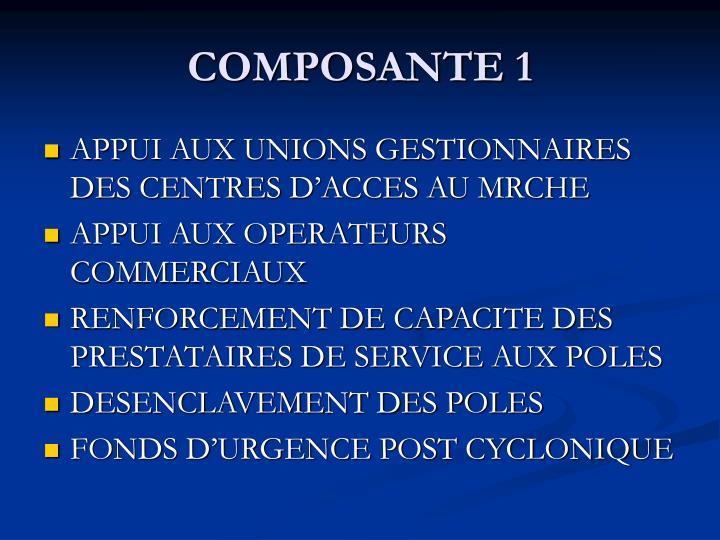 COMPOSANTE 1