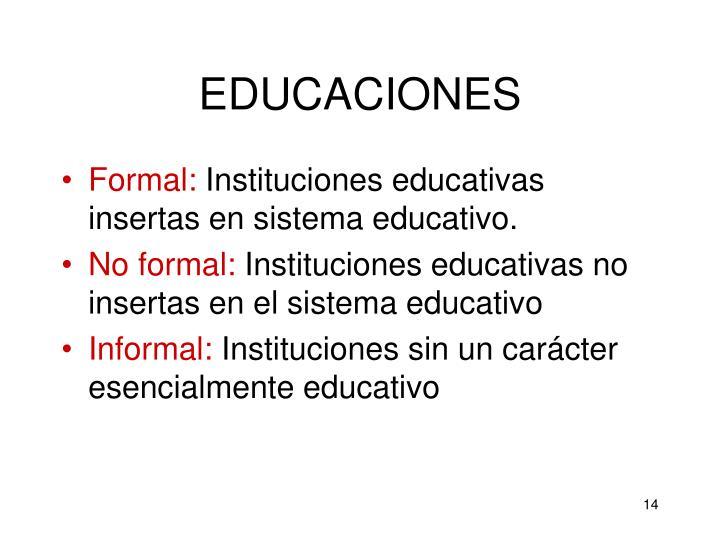 EDUCACIONES