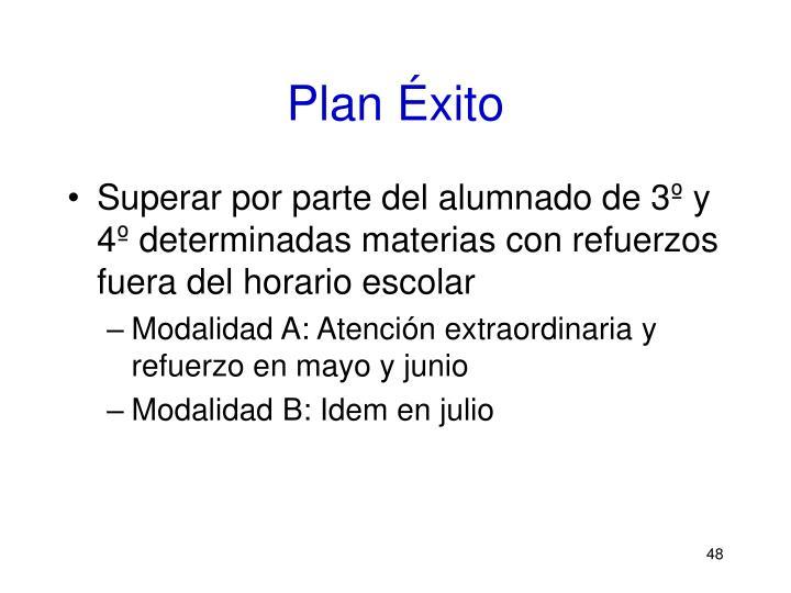 Plan Éxito