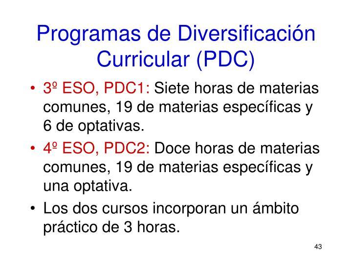 Programas de Diversificación Curricular (PDC)