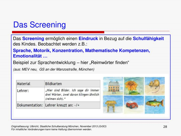 Das Screening