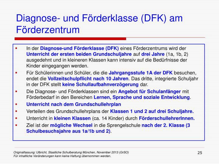Diagnose- und Förderklasse (DFK) am Förderzentrum