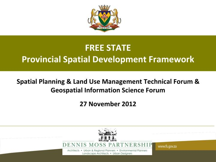 Free state provincial spatial development framework