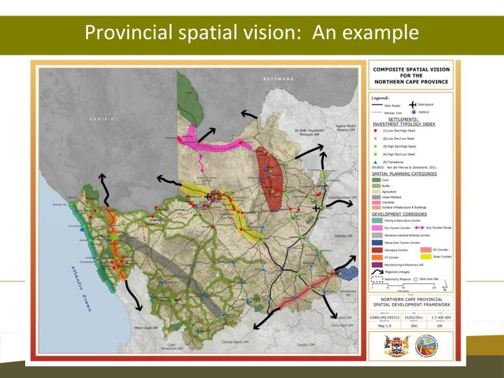 Provincial spatial vision:  An example