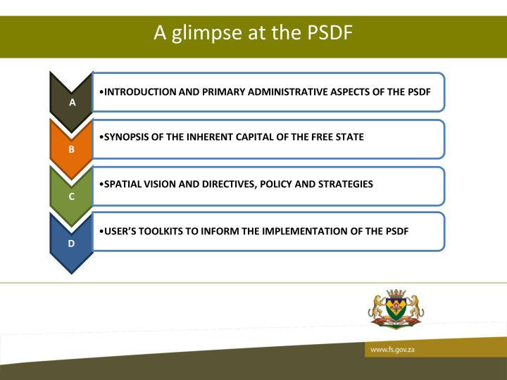 A glimpse at the PSDF