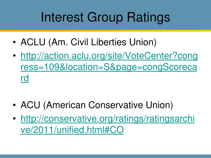 Interest Group Ratings