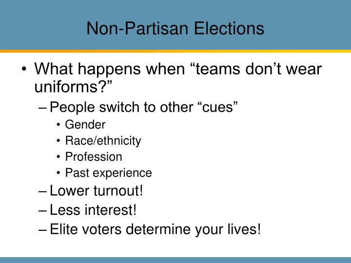 Non-Partisan Elections