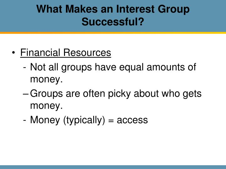 What Makes an Interest Group Successful?