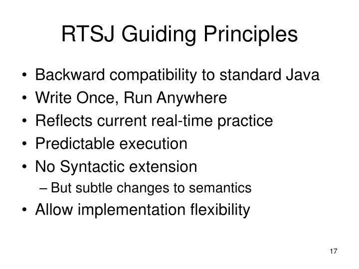 RTSJ Guiding Principles