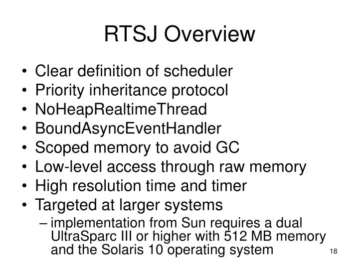 RTSJ Overview