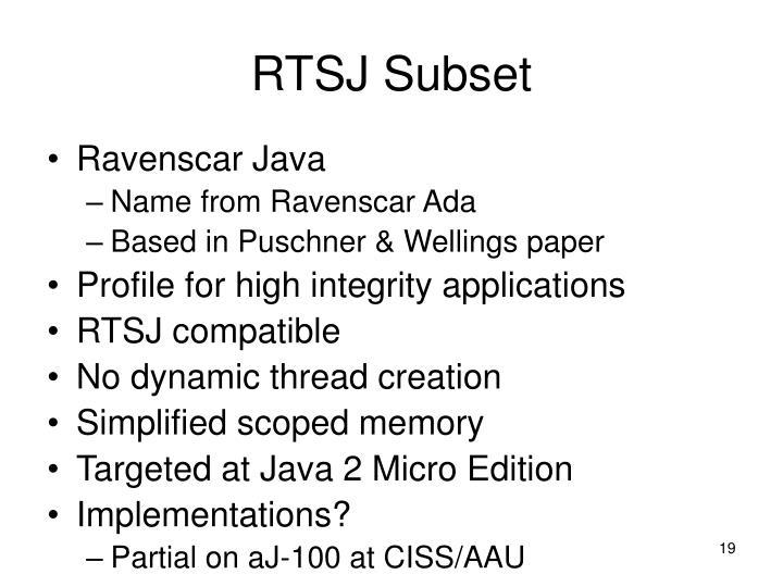 RTSJ Subset
