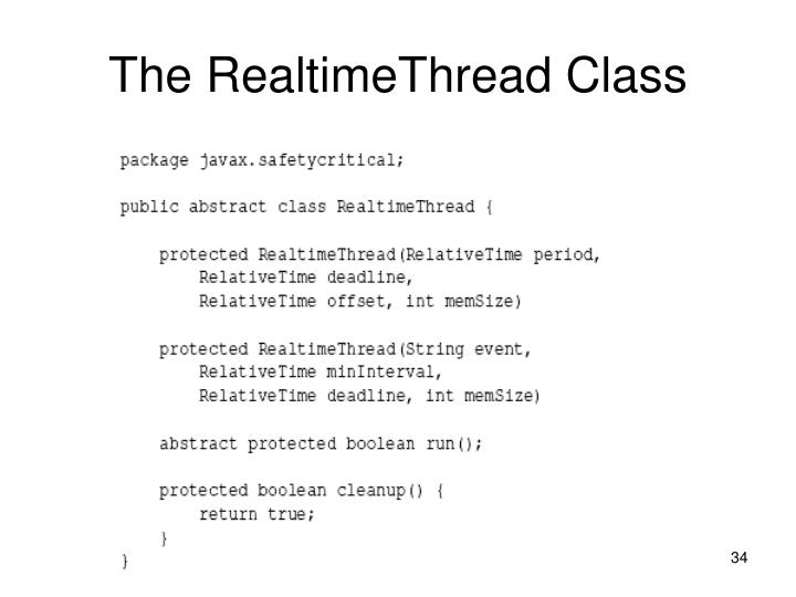 The RealtimeThread Class