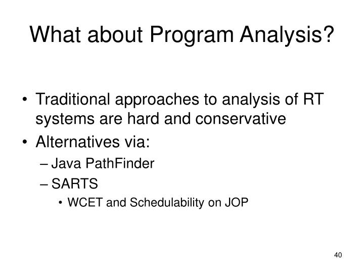 What about Program Analysis?