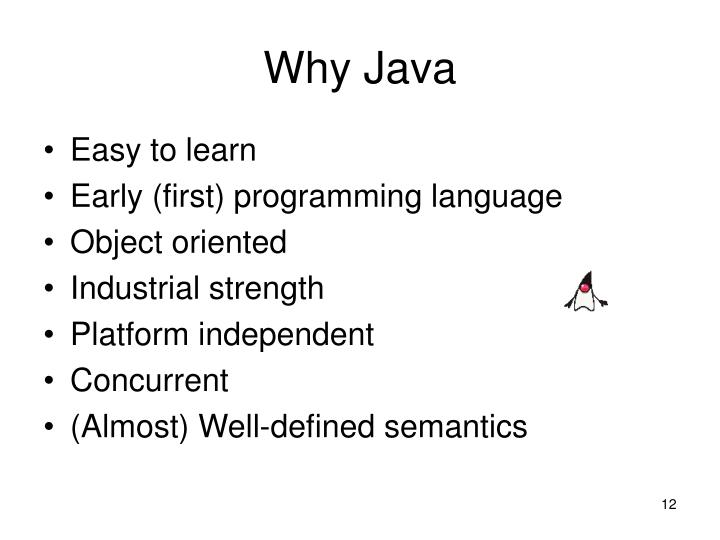 Why Java