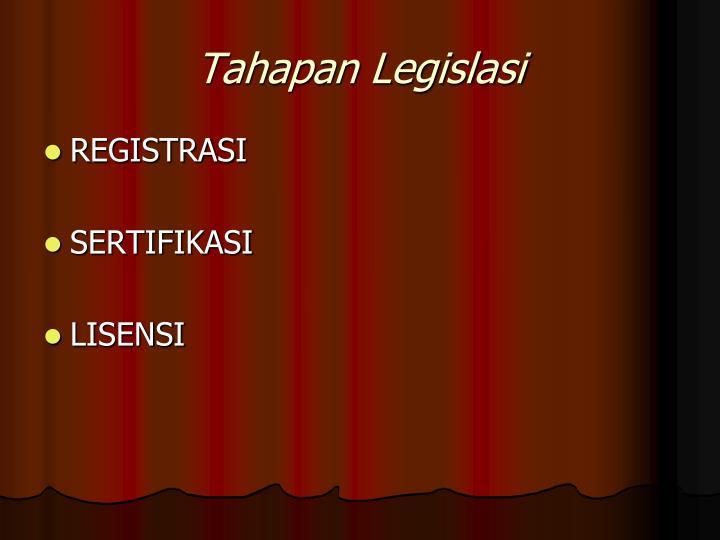 Tahapan Legislasi