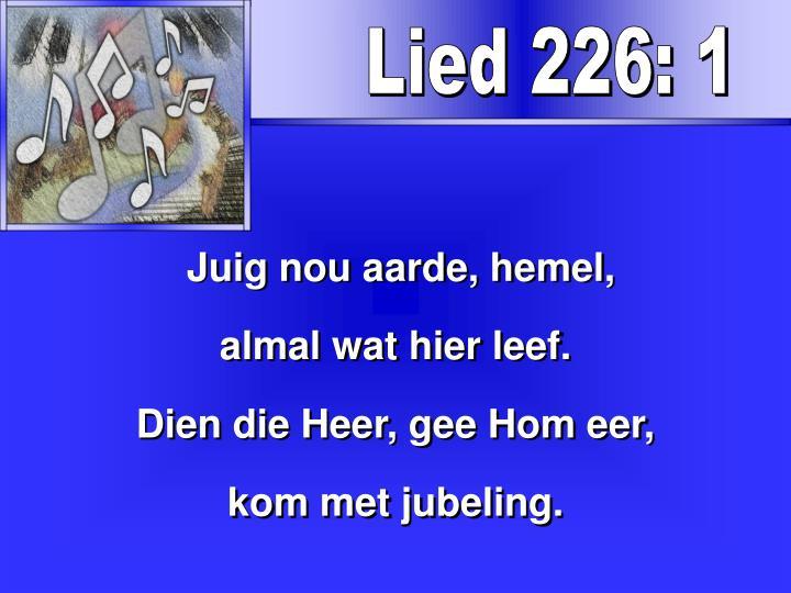 Lied 226: 1