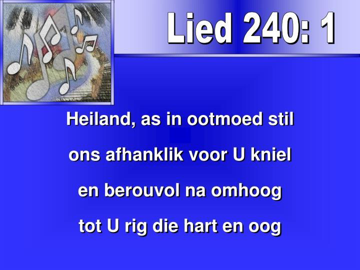 Lied 240: 1