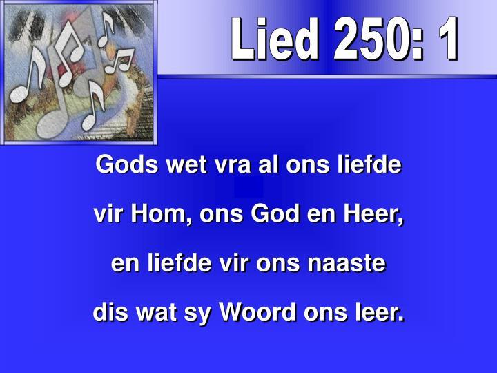 Lied 250: 1