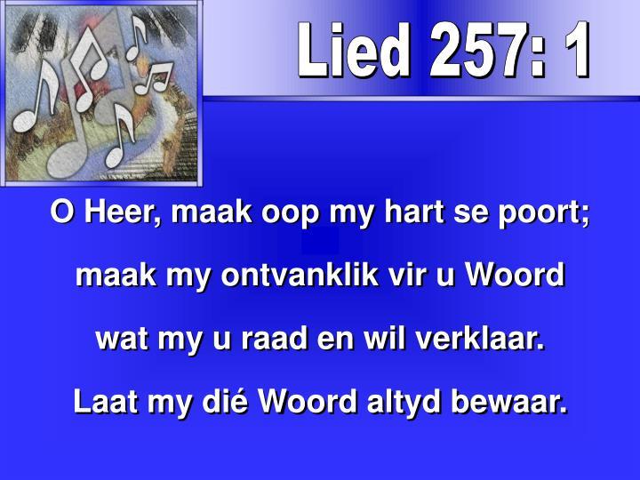 Lied 257: 1