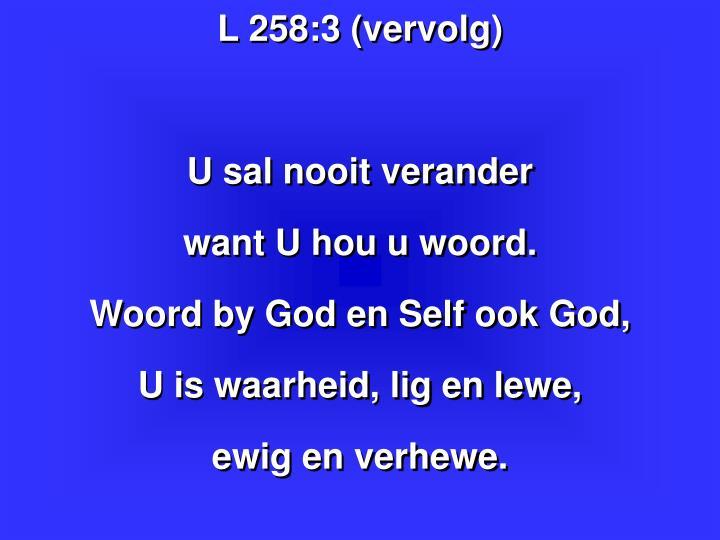 L 258:3 (vervolg)