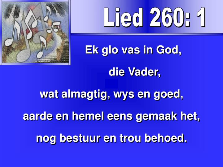Lied 260: 1