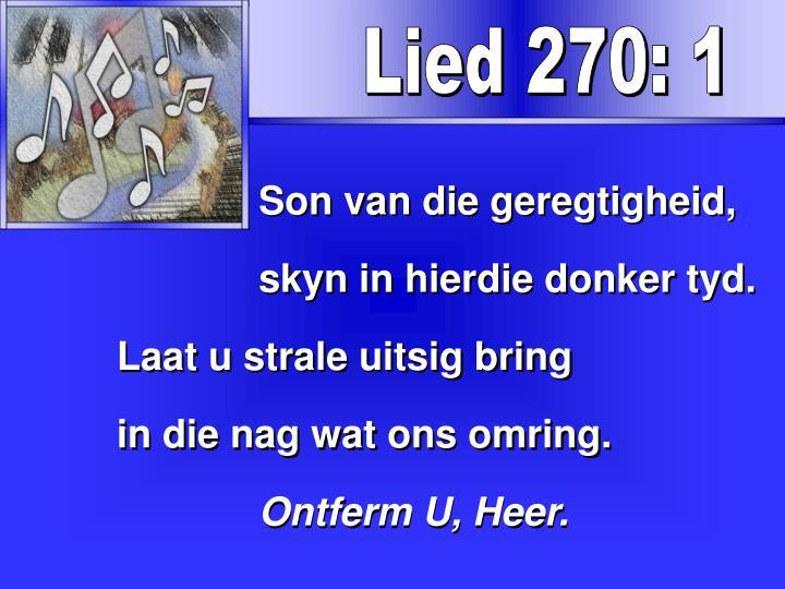 Lied 270: 1