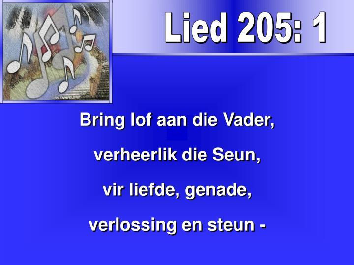 Lied 205: 1