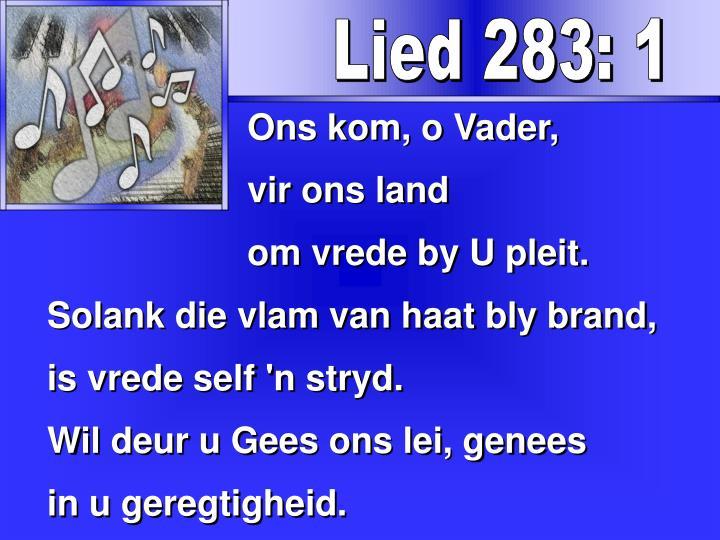Lied 283: 1