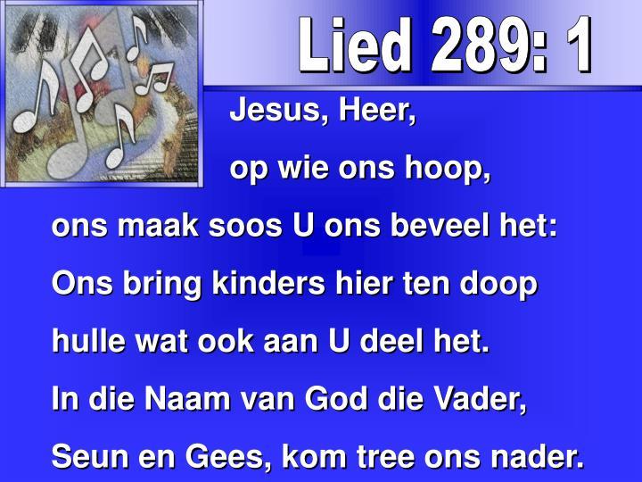 Lied 289: 1