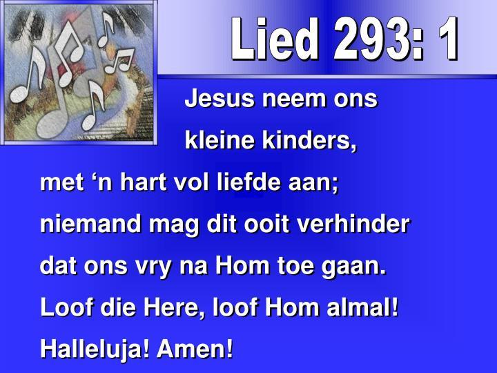 Lied 293: 1