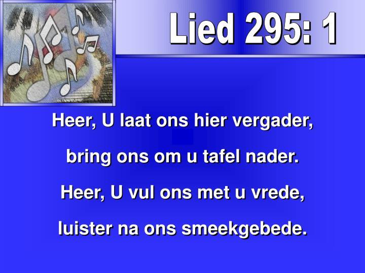 Lied 295: 1