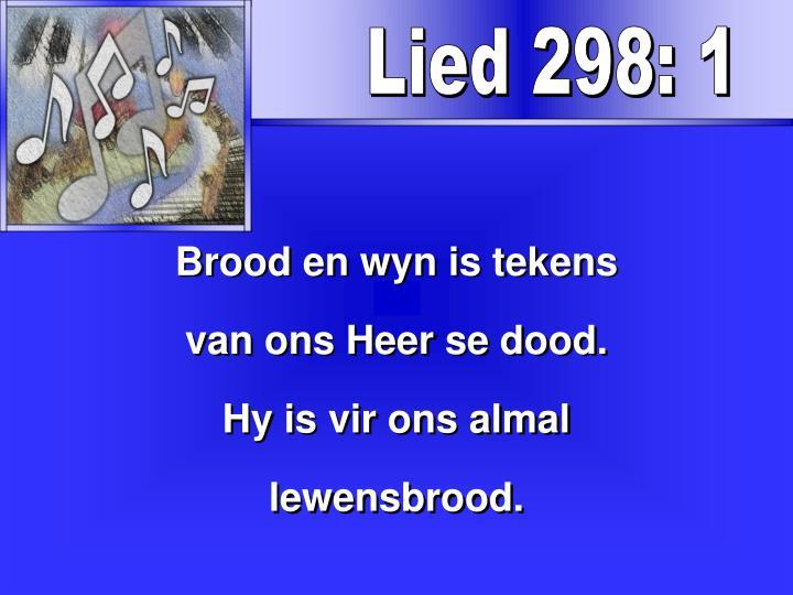 Lied 298: 1