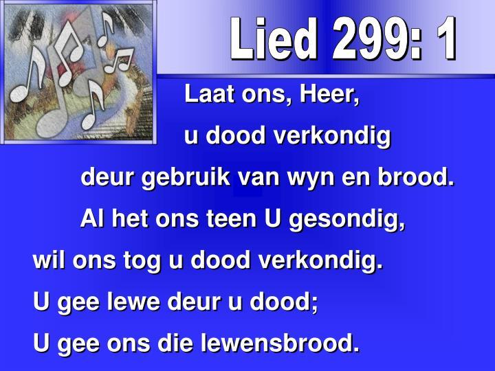 Lied 299: 1