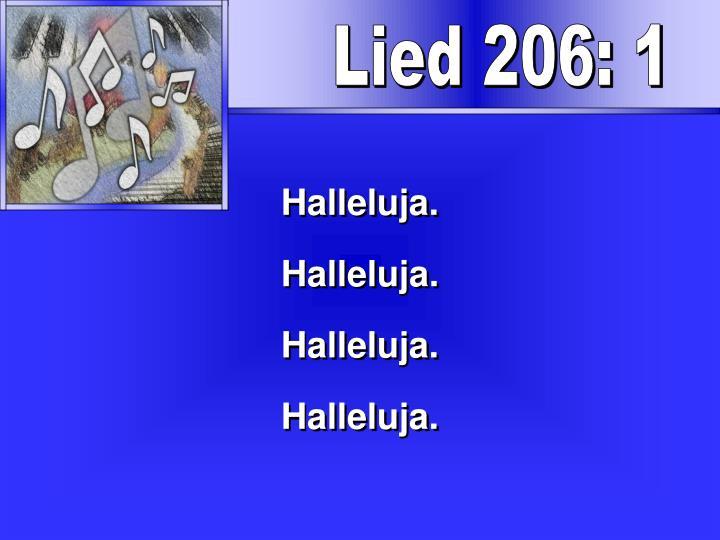 Lied 206: 1