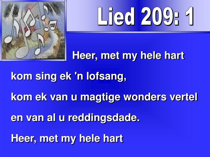 Lied 209: 1