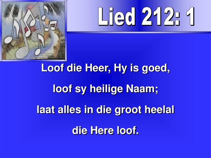 Lied 212: 1