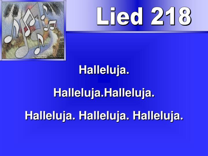 Lied 218