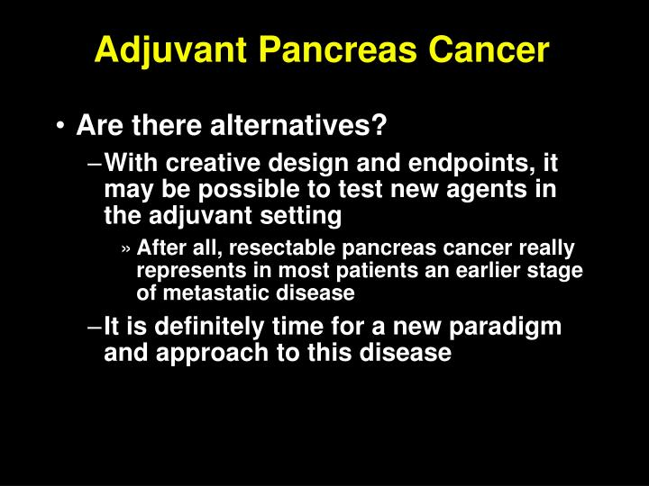 Adjuvant Pancreas Cancer