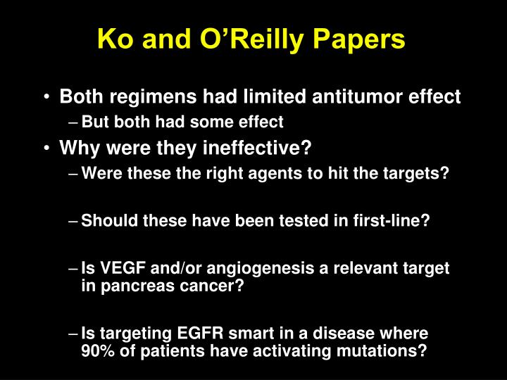Ko and O'Reilly Papers