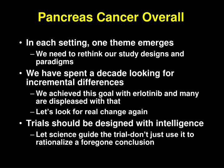 Pancreas Cancer Overall