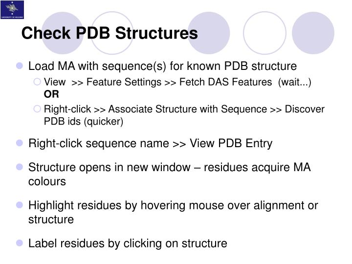 Check PDB Structures