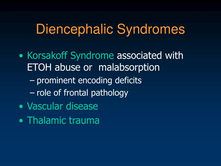 Diencephalic Syndromes